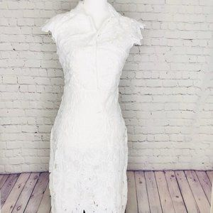 ChicWish Dresses Size S White Floral Lace